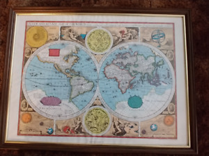 """""""A New and Accvrat Map Of The World"""" by John Speed 1627"""