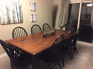 Harvest Table and 8 Chairs