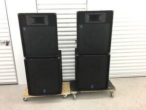 """Yorkville Elite PA speakers - 15"""" Tops and 18"""" Subwoofers"""
