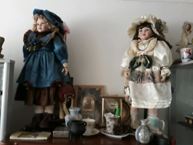 Two big porcelain doll idea for gift, carboot, house clearance