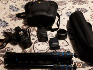 Sony Alpha A37 Camera and accessories