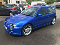 2004 MG ZR 1.4 105BHP TROPHY BLUE LOW MILES **62,000 MILES**