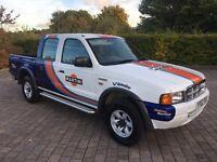 2002 Ford Ranger 2.5 TD XLT Double Cab Pick up 4x4 4dr WRC Martini Edition, NEW MOT, NO VAT