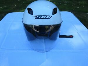 SHR Motorcycle Helmet, White, New - Size:S - $25