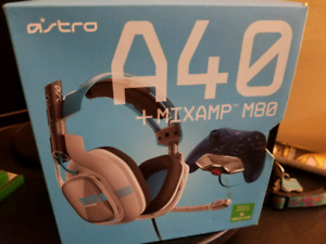 Astro A40s xbox one grey and blue