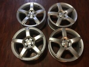 """17"""" Aluminum Rims - Barely used- great for winter tires"""