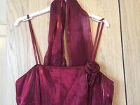 Dark red evening/prom/ball/bridesmaid dress. Size 12 from Debenhams