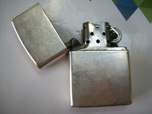 pure silver zippo lighter made in U S A GREAT COLLECTABLE FOR TH