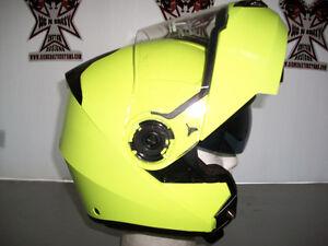 TORC Modular Helmet, HI-VIS Yellow - With Retractable Lens