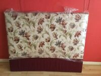 Floral double headboard for sale