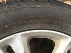 Set of 4 winter tires  Prince George British Columbia image 3