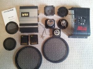 Car amplifier speakers stereo, audio equipment