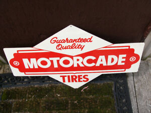 Motorcade tire advertising sign