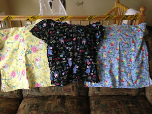 3 scrub tops xl