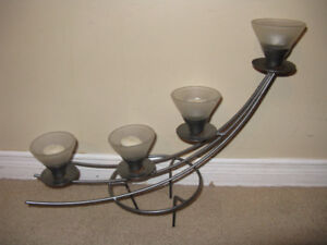 Candle Holders new and used Lot of 5