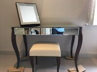 Stunning dressing table, stool, mirror-White Company