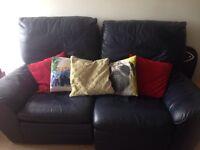 Free leather reclining sofa