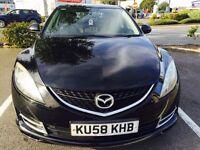 Mazda 6, 1.8 Petrol, Black Hatchback 2008, MOT 12 months