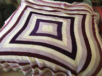 Homemade knitted blanket