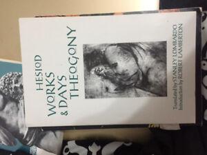 HESIOD WORKS AND DAYS THEOGONY