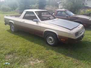 1984 Dodge Rampage USA Rust Free Body and  B.C Parts Car