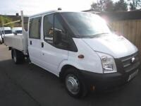14 reg Ford Transit double cab alloy dropside pickup 10,6
