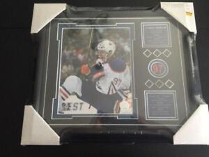 Connor McDavid First NHL Goal Wooden Framed Print (New) Calgary Alberta Preview