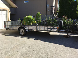 Fabulous like new flatbed trailer.