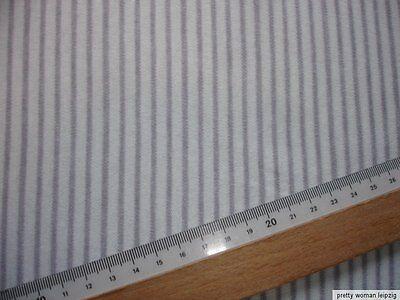 1 Lfm Jersey 2,93€/m²  gestreift Interlock 170cm breit FA55