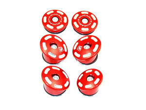 DUCABIKE M1200/821 Frame Plug Kit - Red - New
