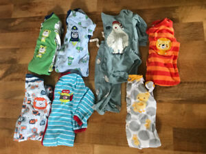 Boys Pekkle sleepers small lot 18 and 24 months