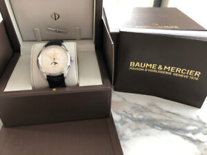 Baume & Mercier Clifton MoonPhases Calendar. Box/Papers!!*RARE*