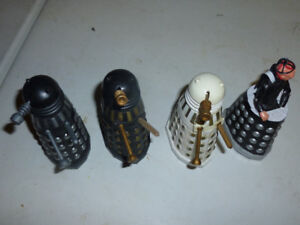 Doctor Who Vintage Dalek figures and Davros - Loose, NM