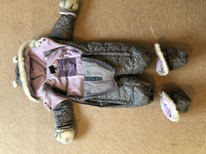 One-piece Snowsuit, Baby Girl 12 Months