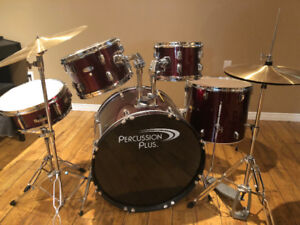 Percussion plus Drum Kit in good quality with Remo drum heads