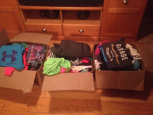 3 boxes of girls clothing