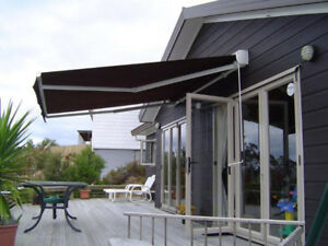 Awning-25 foot custom crafted opens 8.5 feet