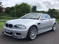 BMW M3 Convertible Manual Low Mileage Full Service History 2 Keys CSL Wheels