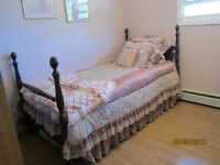 Antique Twin 4 Poster Bed