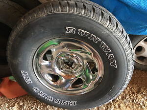 Dodge chrome rims and tires