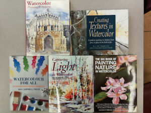 Watercolour painting books / Livre de peinture à l'aquarelle