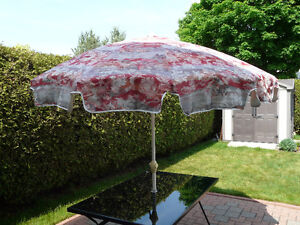 Floral Parasol with white base