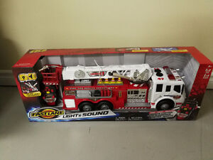 Brand New Fire Truck and Express Train Set