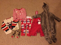 Bundle of boys Christmas clothes 0-3 months