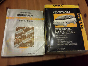 1991 Toyota Previa Repair and Electrical Manuals $2