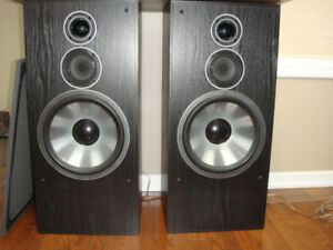"large speakers with 12"" woofers"