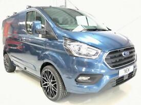 "68REG FORD TRANSIT CUSTOM LIMITED BLUE 20"" SPORT ALLOYS FULLY LOADED NEW VAN"