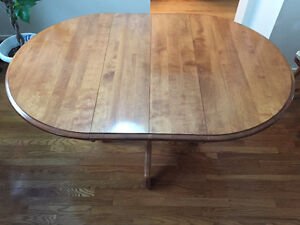 Dining room table and chairs (solid maple)
