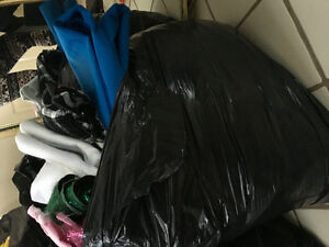 BAGS OF FABRIC AND POLAR FLEECE
