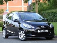 Mazda 2 1.3 2009 TS2 5 Door BLACK..1 LADY OWNER + WARRANTY + JUST SERVICED